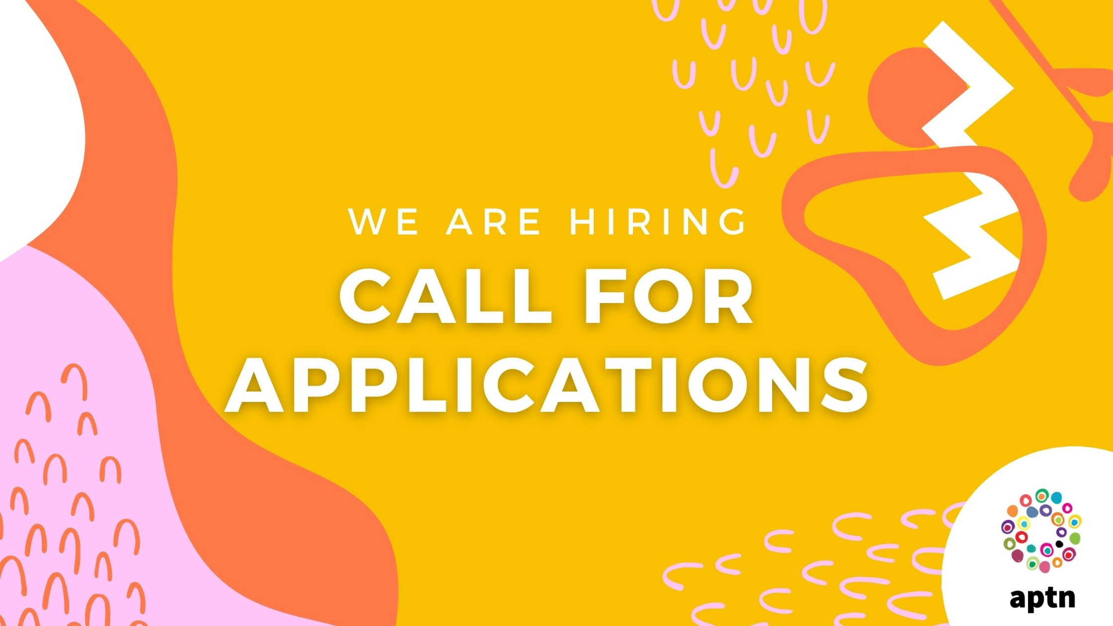 yellow graphic with words Call for Applications